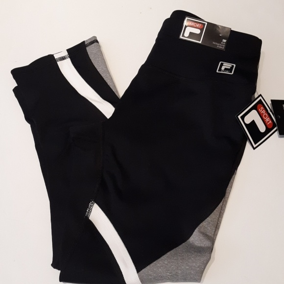 74157c9b675b Fila Pants | Leggings Women Xs Crop Sport Black Yoga | Poshmark